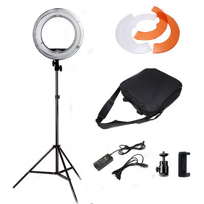 "Dimmable 14"" 5500K Fluorescent Ring Light for SmartPhone/Camera with Light Stand"
