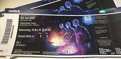 2 Blue Man Group Tickets, 20.12.18 um 20:00 Uhr