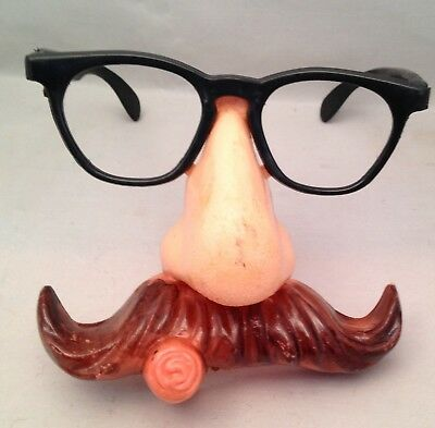 Halloween 50's Mask / Disguise Glasses w/ Nose Mustache Cigar Vintage