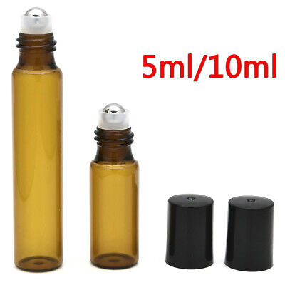 01bbece6a953 WHOLESALE LOT AMBER Glass Roll On Roller Ball Empty Bottle Perfume  Essential Oil
