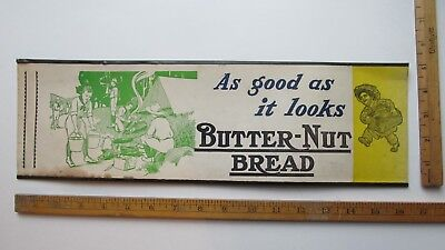 BUTTER-NUT BREAD  advertising with boy scout camp scene