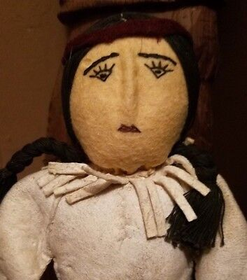 Sweet Vintage Plains Leather Doll Native American Indian