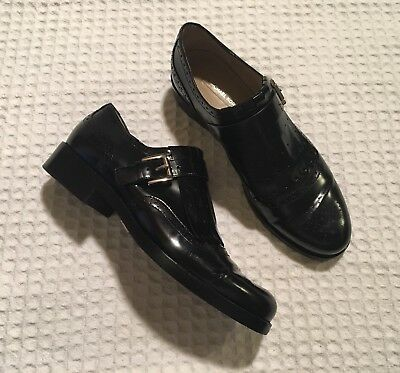 096f338a38a1 MICHAEL KORS Collection Braedyn Runway Leather Brogues Oxfords Shoes Black  40 9