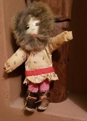 Antique Small Sweet Inuit Doll Native American Indian