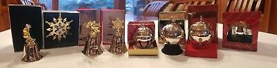 Lot of 8 Christmas Ornaments. Lunt, Gorham, Reed&Barton, Towle silverplate bell