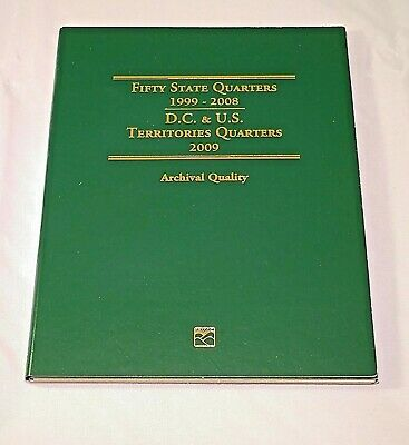 50 State 1999 - 2008 & 2009 Territory Quarter Folder Littleton Coin Company NEW