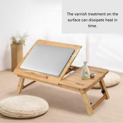 Portable Foldable Wooden Bamboo Laptop Table Sofa Bed Office Laptop Stand Rack