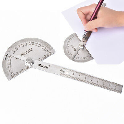 Angle ruler protractor stainless steel ruler 180°  square woodworking tool CH