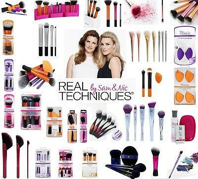 Real Techniques Makeup Brush Core Collection brushes , Starter Kit, Sponge Set