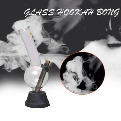 Glass Hurricane Hookah Water Glass Bong Smoking Pipe Shisha Tobacco Bottle AU