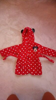 Baby girl Disney Minnie mouse dressing gown 6-9 months