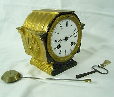 Antique French Gilt Mantel Clock Movement H.Marc 53016