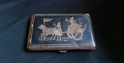 1940's Siam Sterling Silver Cigarette / Card Case
