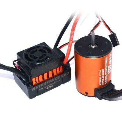 Set 4300KV Brushless 3650 Motor +60A ESC Great für 1:10 RC Auto Car LKW DEW DHL