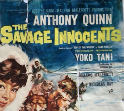 Anthony Quinn : The Savage Innocents :original Vintage Cinema Poster