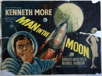 Kenneth More : Man In The Moon : Original Vintage Cinema Poster