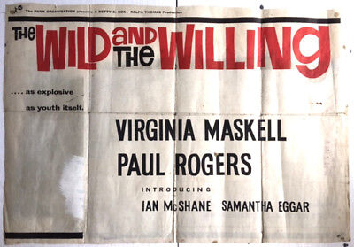 Original Vintage Cinema Poster : THE WILD AND THE WILLING