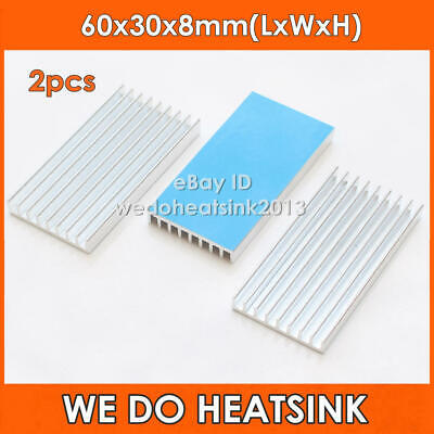 2pcs 60x30x8mm WE DO HEATSINK Aluminum For BTC Miner ASIC Board With Thermal Pad