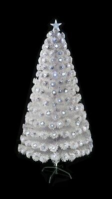 Scarlet Snow White White Artificial Christmas Tree With Clear/White Lights