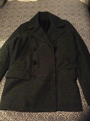Wool Double Breasted Pea H Jacket Logg Insulated Coat amp;m Men OkXwn80P