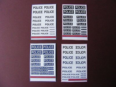 Bumper Lot Of Police Stickers On 4 Mini Sheets
