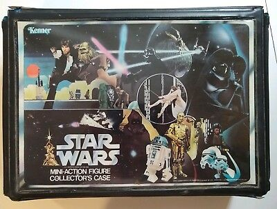 1970's Star Wars Mini Action Figures Lot Of 23 Kenner With Case