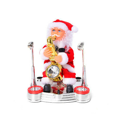 """Special Singing Electric Dancing Saxophonist Santa Claus Toy 7x6.5"""""""