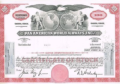 Pan American World Airways, Inc.., USA - 100 Shares     (104)