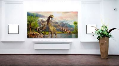 DINOSAUR beautiful & colorful animals high quality Canvas painting  Home decor