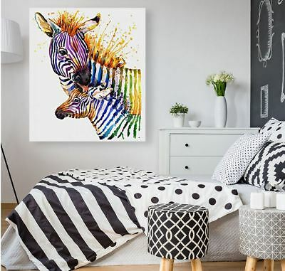 ZEEBRA ART beautiful colorful animals high quality Canvas painting  Home decor