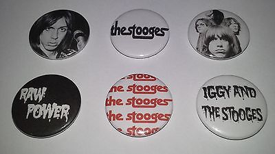 6 Iggy and the Stooges button badges CBGB Punk Rock The Ramones Pop Television