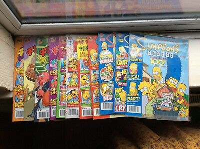 The Simpsons 8 Comics from 2004 - 2007  includes ISSUE #100 + 4 Futurama Comics