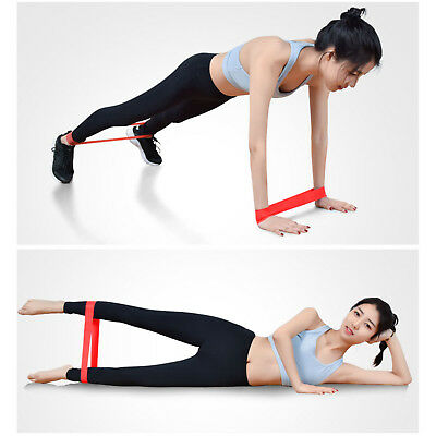 Physio Stretch gym Elastic Resistance Loop Bands Yoga Exercise Fitness Workout