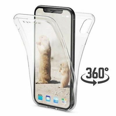 360° Silicone Protective Front & Back Clear Gel Case Cover For iPhone XS Max