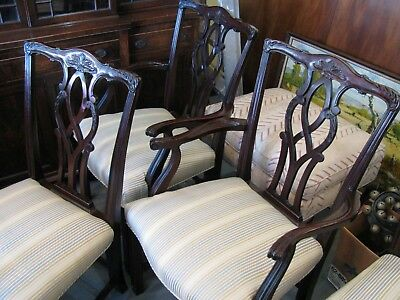 Mahogany Vintage Dining Room Chairs - SIX - Clean - Very Sturdy - Pick Up Only