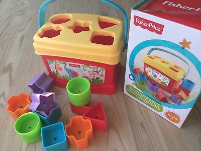 Fisher Price Baby's First Blocks Shape Sorter Toy 6-36 months Baby Toddler Learn