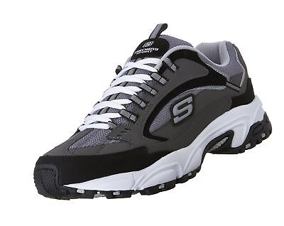 e92c57bff743 Skechers Sport Men s Stamina Nuovo Cutback Lace-Up Sneaker Charcoal Black