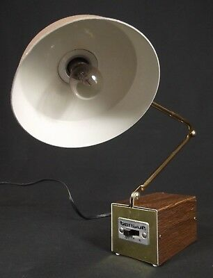 mid century modern lamp Vintage MCM desk or wall RETRO gooseneck articulating