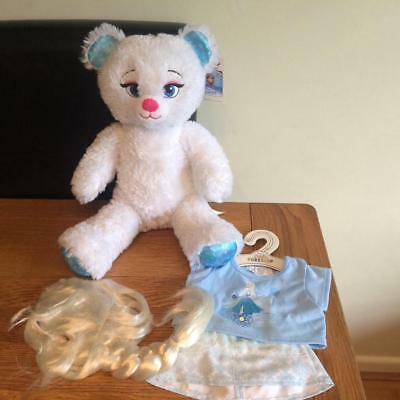 Build A Bear Factory Adorable Disney Frozen Elsa  & Outfit & Wig Bnwt