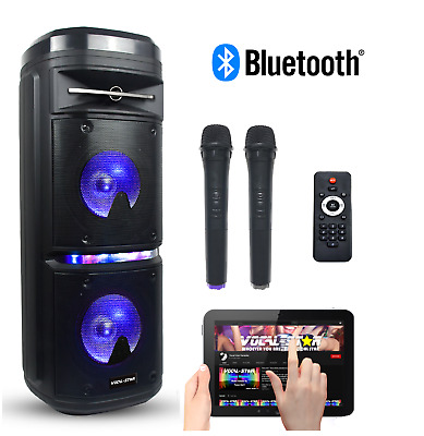 Vocal-Star Bluetooth Cdg Karaoke Machine With Speakers & 2 Mics 40 Songs Vs355Bt