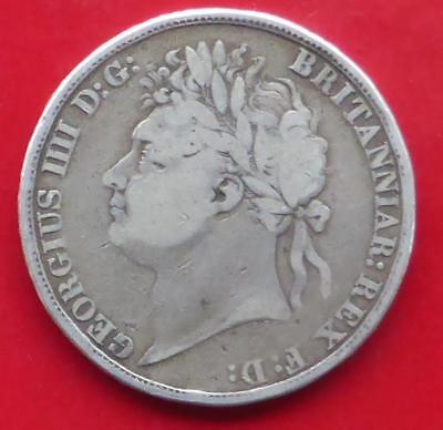 An 1821 King George Iv Gb Silver One Crown Coin
