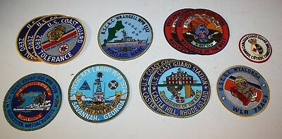 United States Coast Guard Lot Of 12 Some Rare Patches Retired
