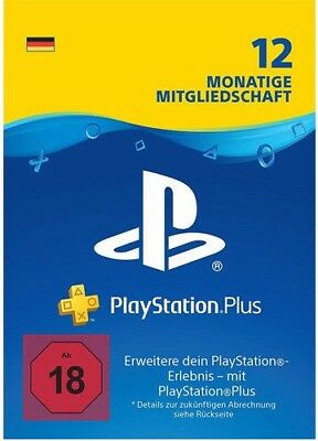DE PlayStation Plus 12 Monate Key Code