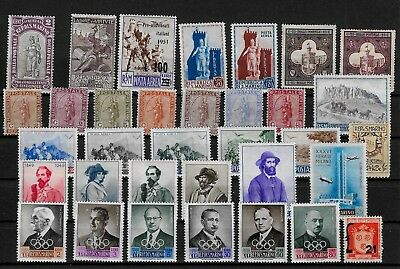 SAN MARINO  - Nice Lot of Mint Stamps on 2 Scans - MNH &  M/M   Lot A
