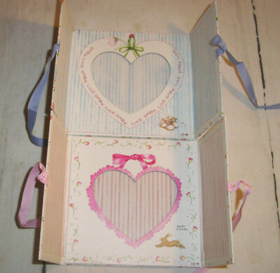 NEW 5 X 5 Susan Branch Baby Love & Baby Kisses Picture Frame Boy Girl FREE SHIP