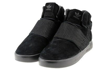 big sale 8b01e 9431f Adidas Originals BB1169 Tubular Invader Strap Sneaker High Schwarz Black  Herren