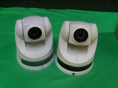 Sony Evi-D70 Ptz Color Video Camera - White Lot Of 2