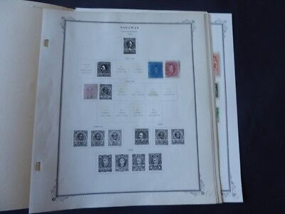 Sarawak 1869-1947 Stamp Collection on Scott Specialty Album Pages