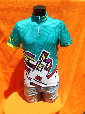 FAST Italia Maillot Jersey Camiseta Maglia True Vintage 90s Made in Italy Cubic