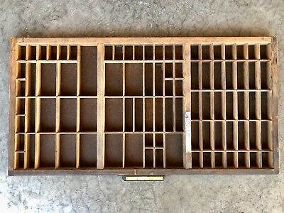 Antique Letterpress Printers TYPE TRAY with Handle